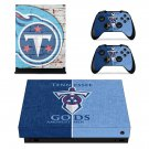 Tennessee titans decal skin sticker for Xbox One X console and controllers