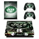 Newyork Jets decal skin sticker for Xbox One X console and controllers