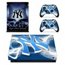 New york yankees decal skin sticker for Xbox One X console and controllers