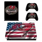 Tampa Bay Buccaneers decal skin sticker for Xbox One X console and controllers