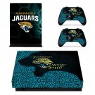 Jacksonville Jaguars decal skin sticker for Xbox One X console and controllers