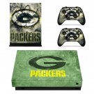 Green bay packers decal skin sticker for Xbox One X console and controllers