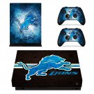 Detroit lions decal skin sticker for Xbox One X console and controllers