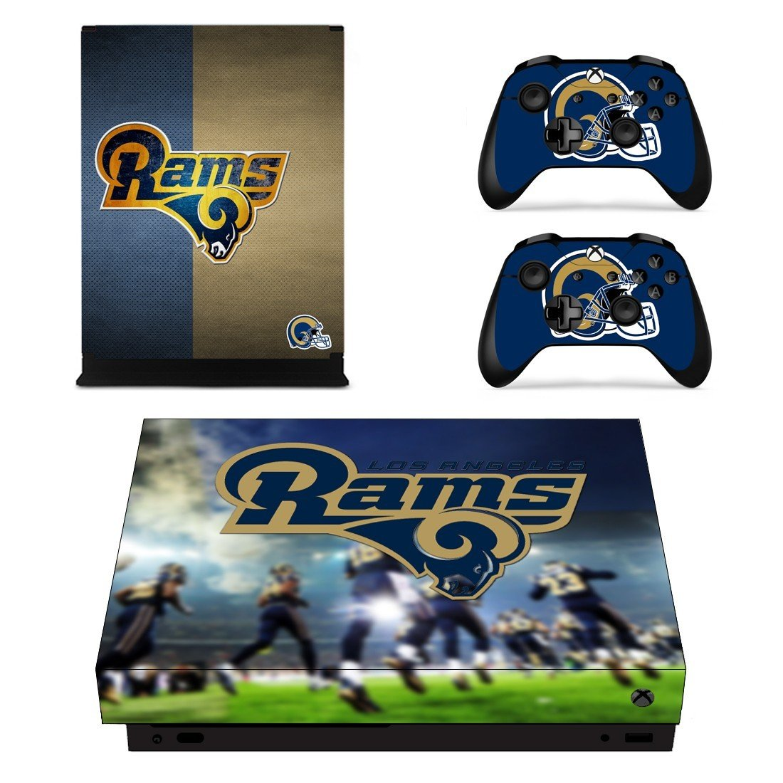 Los Angeles Rams decal skin sticker for Xbox One X console and controllers