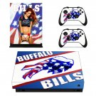 Buffalo Bills decal skin sticker for Xbox One X console and controllers