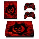 Gears of War 3 decal skin sticker for Xbox One X console and controllers