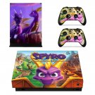 Spyro decal skin sticker for Xbox One X console and controllers