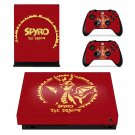 Spyro The Dragon decal skin sticker for Xbox One X console and controllers