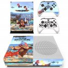 Super Smash Bros decal skin sticker for Xbox One S console and controllers