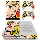 Roy Lichtenstein decal skin sticker for Xbox One S console and controllers