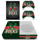 Milwaukee Bucks decal skin sticker for Xbox One S console and controllers