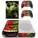 Green Hulk decal skin sticker for Xbox One S console and controllers