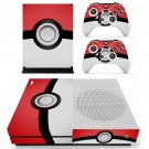 Pokemon Pokeball  decal skin sticker for Xbox One S console and controllers