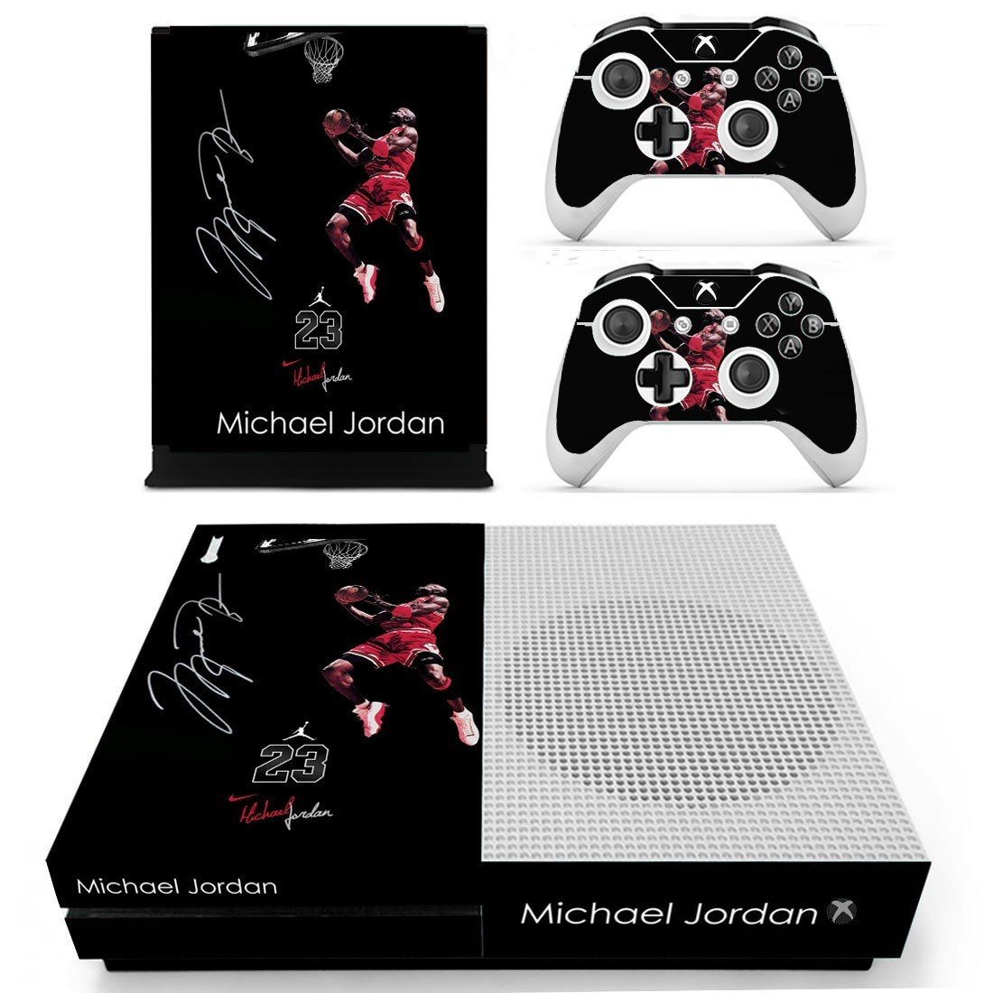 Jordan 23 decal skin sticker for Xbox One S console and controllers