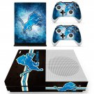 Detroit lions decal skin sticker for Xbox One S console and controllers