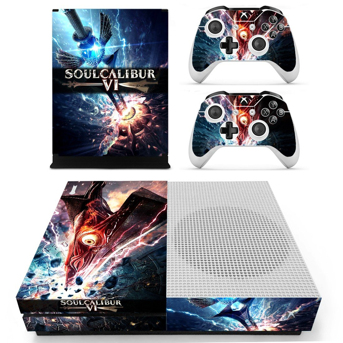 Soulcalibur 6 decal skin sticker for Xbox One S console and controllers