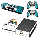 Miami Marlins decal skin sticker for Xbox One console and controllers