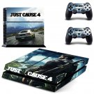 Just Cause 4 decal skin sticker for PS4 console and controllers