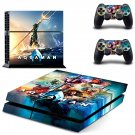 AquaMan decal skin sticker for PS4 console and controllers