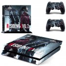 Resident Evil 2 decal skin sticker for PS4 console and controllers