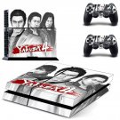 Yakuza 4 decal skin sticker for PS4 console and controllers