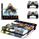 Anthem decal skin sticker for PS4 console and controllers