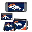 Denver Broncos decal skin sticker for Nintendo Switch console and controllers