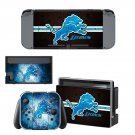 Detroit lions decal skin sticker for Nintendo Switch console and controllers