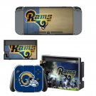 Los Angeles Rams decal skin sticker for Nintendo Switch console and controllers