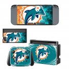 Miami Dolphins decal skin sticker for Nintendo Switch console and controllers