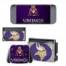 Minnesota vikings decal skin sticker for Nintendo Switch console and controllers