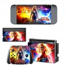 Supergirl decal skin sticker for Nintendo Switch console and controllers