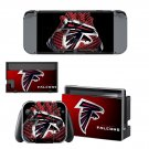 Atlanta Falcons decal skin sticker for Nintendo Switch console and controllers