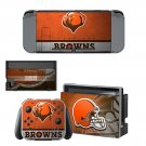 Cleveland Browns decal skin sticker for Nintendo Switch console and controllers