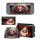 San Francisco 49ers decal skin sticker for Nintendo Switch console and controllers