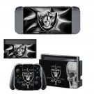 Oakland Raiders decal skin sticker for Nintendo Switch console and controllers