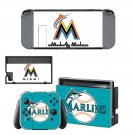 Miami Marlins decal skin sticker for Nintendo Switch console and controllers