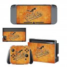 Baltimore Orioles decal skin sticker for Nintendo Switch console and controllers