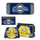 Milwaukee Brewers decal skin sticker for Nintendo Switch console and controllers