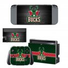 Milwaukee Bucks decal skin sticker for Nintendo Switch console and controllers