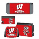 Wisconsin Badgers decal skin sticker for Nintendo Switch console and controllers