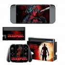 Deadpool decal skin sticker for Nintendo Switch console and controllers