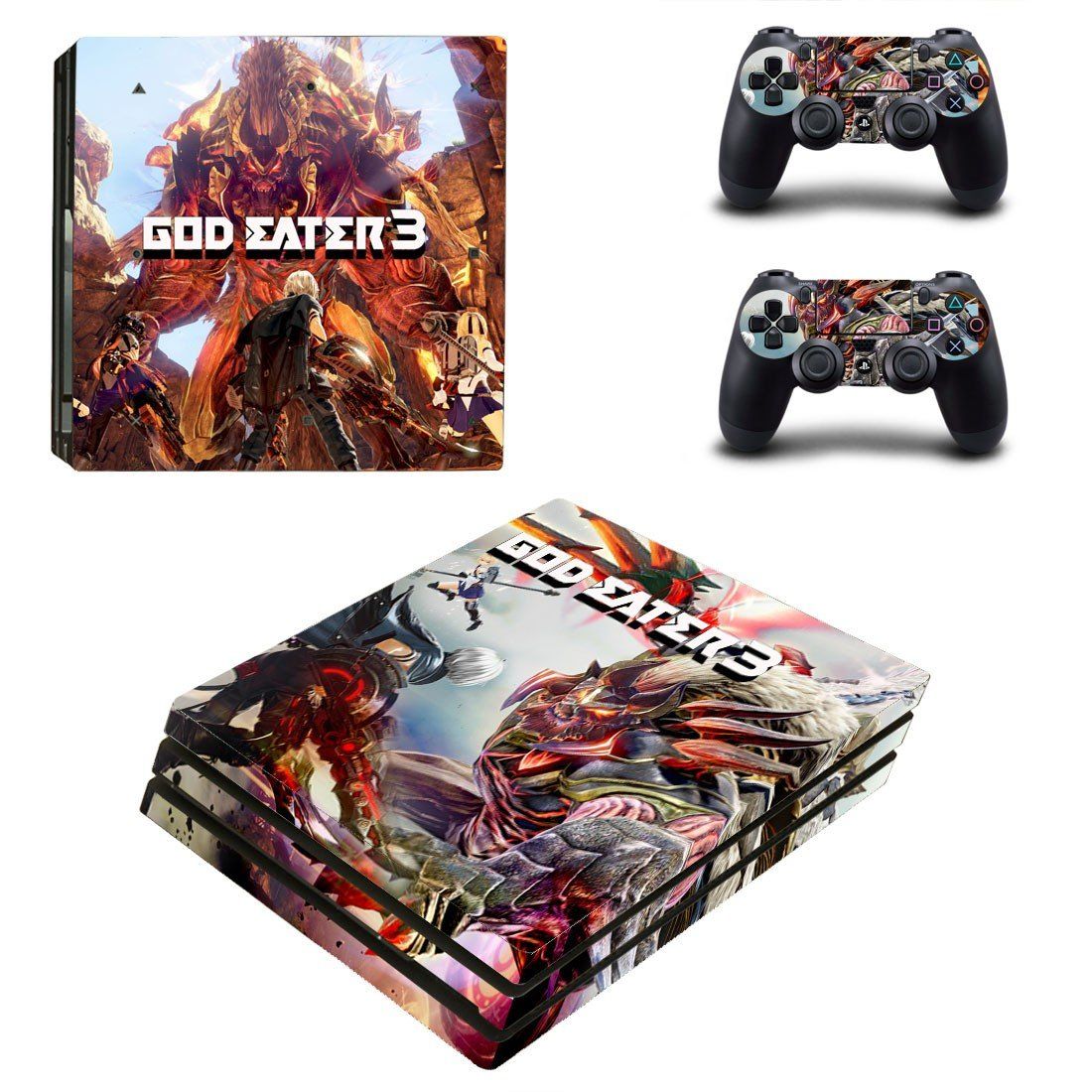 God Eater 3 decal skin sticker for PS4 Pro console and controllers