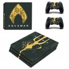 AquaMan decal skin sticker for PS4 Pro console and controllers