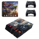 Anthem decal skin sticker for PS4 Pro console and controllers