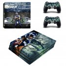 Seattle Seahawks decal skin sticker for PS4 Pro console and controllers