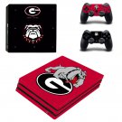 UGA mascot decal skin sticker for PS4 Pro console and controllers