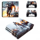 Battlefield decal skin sticker for PS4 Pro console and controllers
