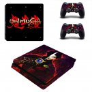 Onimusha decal skin sticker for PS4 Slim console and controllers