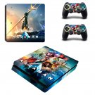 AquaMan decal skin sticker for PS4 Slim console and controllers